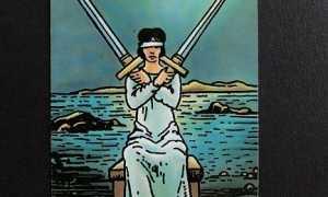Значение аркана Таро Двойка Мечей