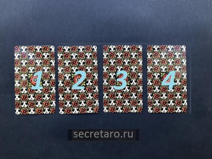 простой расклад на 4 карты